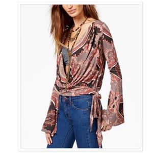 Free People Fiona wrap top, NEW WITH TAGS